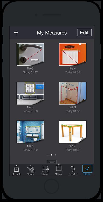 My Measures app screenshot